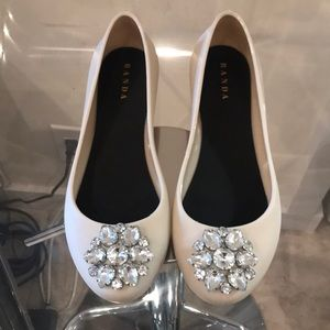 Shoes - BRAND NEW Rubber flats with embellishment